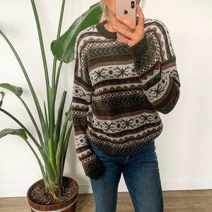 Vintage Oversized Knit Grandpa Sweater Size Large